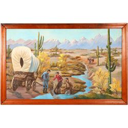 Sluicing Miners Painting by C. Zelinski  (91513)