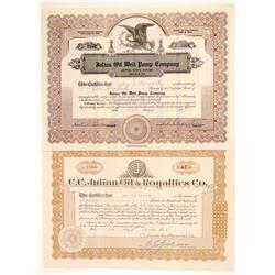 Two C. C. Julian Signed Oil Stocks  (103577)