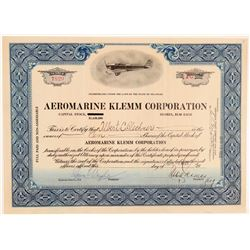 Aeromarine Klemm Corporation Stock  (102303)