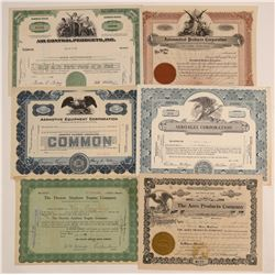 Airplane Products Stock Certificates  (102558)