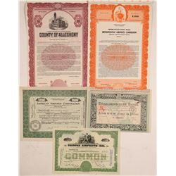Airport Stock Certificates and Bonds  (102562)