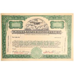Allied Aviation Industries, Inc. Specimen Stock  (101477)