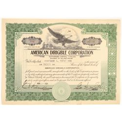 American Dirigible Corporation Stock  (102277)