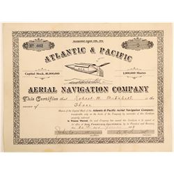 Atlantic & Pacific Aerial Navigation Co. Stock Certificate  (103416)