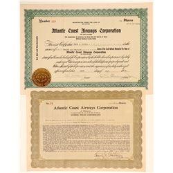 Atlantic Coast Airways Corp. Stock Certificates  (103412)