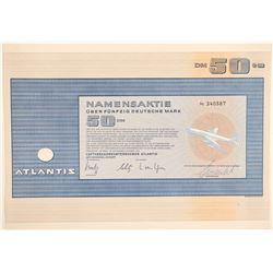 Atlantis Airline Stock Certificate  (103411)