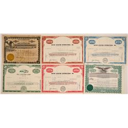 Aviation Companies Stock Certificates  (103470)