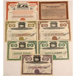 Aviation Corporation Stock Certificates  (103417)