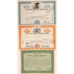 Bellanca Aircraft Corporation Stock Certificates  (103393)