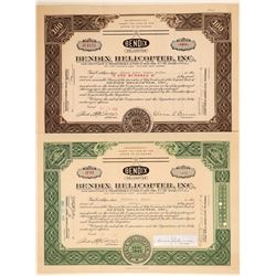 Bendix Helicopter, Inc. Stock Certificates  (103394)