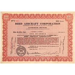 Bird Aircraft Corporation Stock Certificate  (103396)