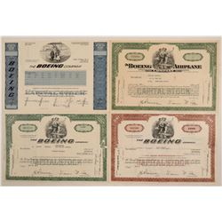 Boeing Airplane Co. Stock Certificates  (103400)