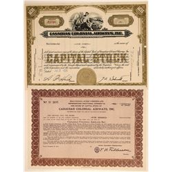 Canadian Colonial Airways, Inc. Stock Certificates  (103397)