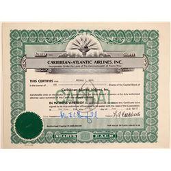 Caribbean-Atlantic Airlines, Inc. Stock Certificate  (103398)