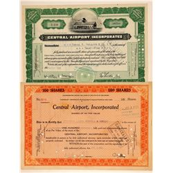 Central Airport, Inc. Stock Certificates  (103399)