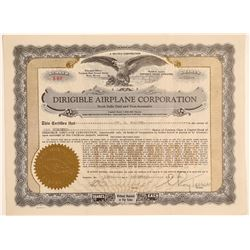 Dirigible Airplane Corporation Stock Certificate  (103405)
