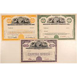 Douglas Aircraft Company, Inc. Specimen Stock Certificates  (103406)