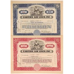 Eastern Air Lines, Inc. Stock Certificates w/ Rickenbacker Autosig.  (103409)