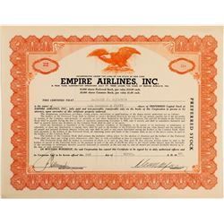 Empire Airlines, Inc. Stock Certificate  (103390)