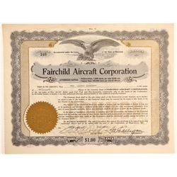 Fairchild Aircraft Corporation Stock Certificate  (103391)