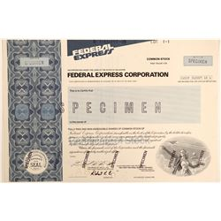 Federal Express Corporation Stock Certificate -- Specimen  (102637)