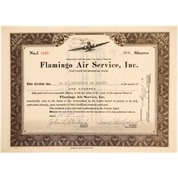 Flamingo Air Service, Inc. Stock Certificate  (102638)