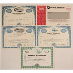 Frontier Airlines, Inc. Stock Certificates  (102631)