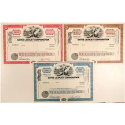 Gates Learjet Corporation Specimen Stock Certificates  (102632)