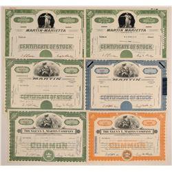 Glenn L. Martin Co. / Martin Marietta Stock Certificates  (102592)