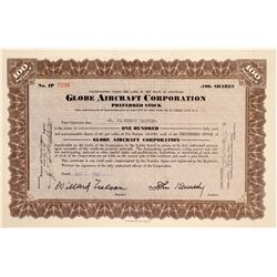 Globe Aircraft Corporation Stock Certificate  (102613)