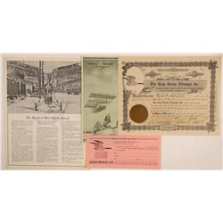 Gray Goose Airways, Inc. Stock Certificate & Rare Brochure  (102616)