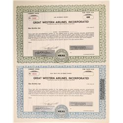 Great Western Airlines, Inc. Stock Certificates  (102618)