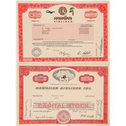 Hawaiian Airlines Stock Certificate Pair  (101530)