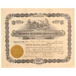 Holbrook Helicopter Aeroplane Co. Stock Certificate  (102625)