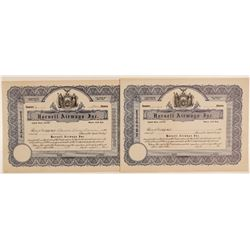 Hornell Airways, Inc. Stock Certificates  (102626)