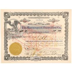 Hornespeed Propelling Company Stock Certificate  (102627)