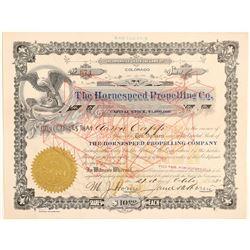 Hornespeed Propelling Company Stock Certificate  (102627)