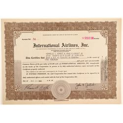 International Airlines, Inc. Stock Certificate  (102628)