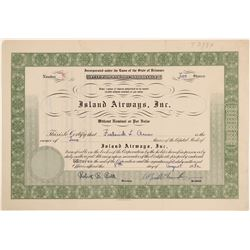 Island Airways, Inc. Stock Certificate  (102612)