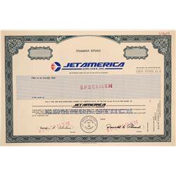 Jet America Airlines, Inc. Stock Certificate -- Specimen  (102604)