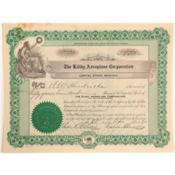 Kiddy Aeroplane Corporation Stock Certificate  (102606)