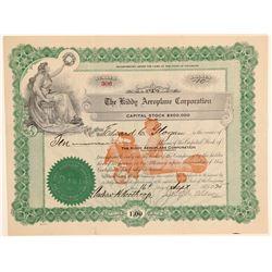 Kiddy Aeroplane Corporation Stock Certificate  (102605)