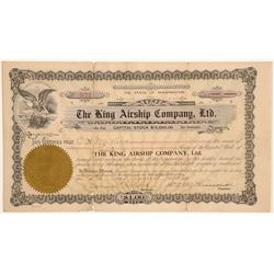 King Airship Company, Ltd. Stock Certificate  (102607)