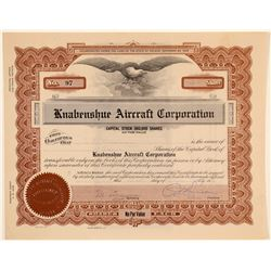 Knabenshue Aircraft Corporation Stock Certificate  (102581)