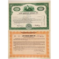 Latin American Airways, Inc. Stock Certificates  (102586)