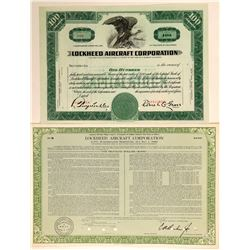 Lockheed Aircraft Corporation Stock Certificates  (102588)