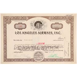 Los Angeles Airways, Inc. Stock Certificate  (102591)