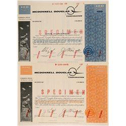 McDonnell Douglas Corporation Specimen Stock Certificates  (102594)
