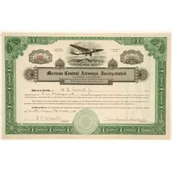 Mexican Central Airways, Inc. Stock Certificate  (102595)