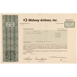 Midway Airlines, Inc. Stock Certificate  (102571)